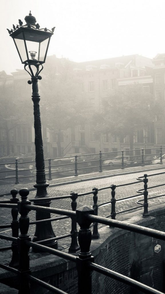 Amsterdam-Street-Light-Fog-Black-And-White-iPhone-Wallpaper-PIC-MCH040030-577x1024 Fog Wallpaper For Iphone 5 37+