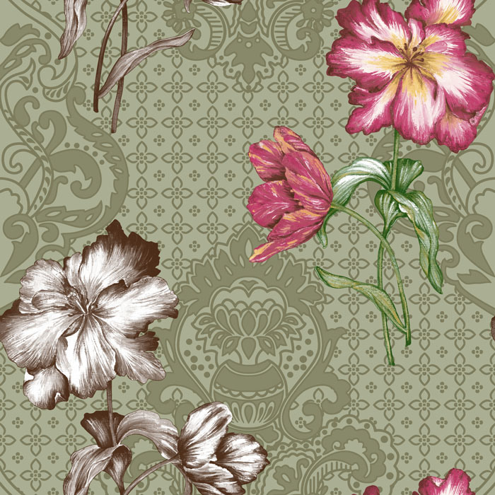Flower-Design-Bedroom-Wallpaper-for-Home-Decoration-PIC-MCH064230 Hibiscus Wallpaper For Walls 16+
