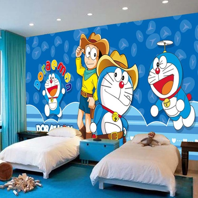 Japanese-anime-Wallpaper-Doraemon-Wall-Mural-Cartoon-Photo-Wallpaper-Silk-Large-wall-art-Room-decor-PIC-MCH078422 Wallpaper Of Doraemon 31+