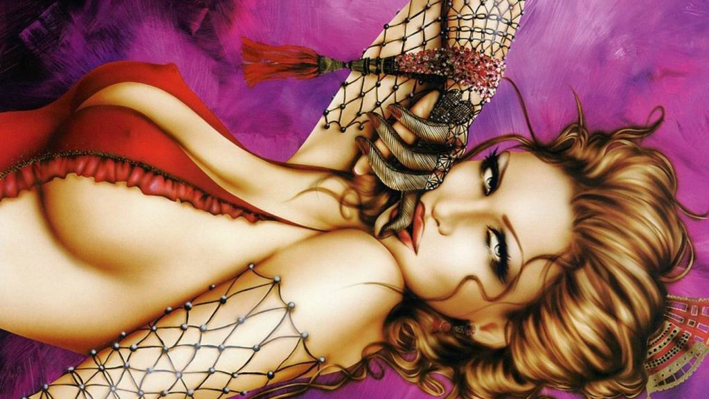 Pretty-girl-red-corset-net-like-gloves-sensual-lips-red-brown-hair-artwork-fantazija-Wallpaper-in-H-PIC-MCH096129-1024x576 Sensual Wallpapers 1366x768 36+