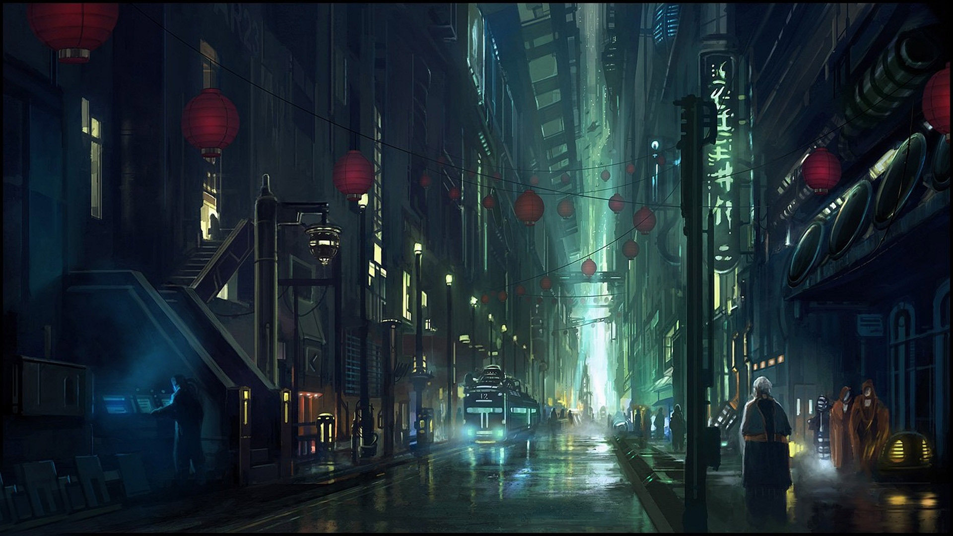 Great Wallpaper Night City Street - cyberpunk-city-street-wallpaper-PIC-MCH055835  Best Photo Reference.jpg