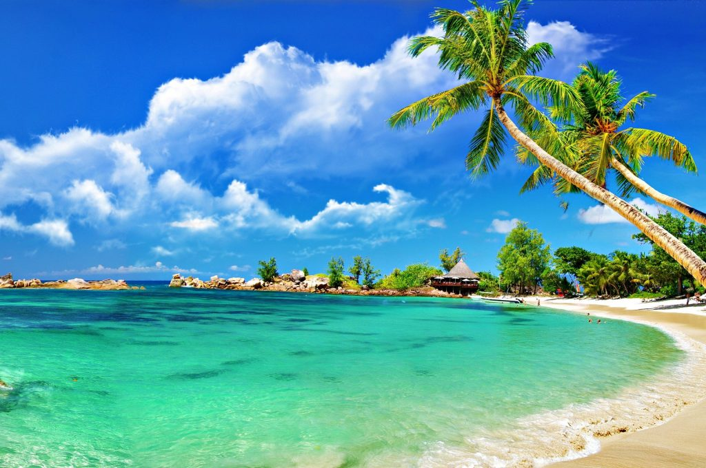 tropical-beach-palms-clouds-ocean-PIC-MCH0108261-1024x680 Chrome Pixel Wallpapers 38+