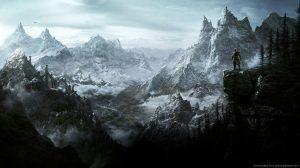 Skyrim Logo Wallpaper 1366×768 33+