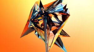 Wallpaper Abstract Orange 51+