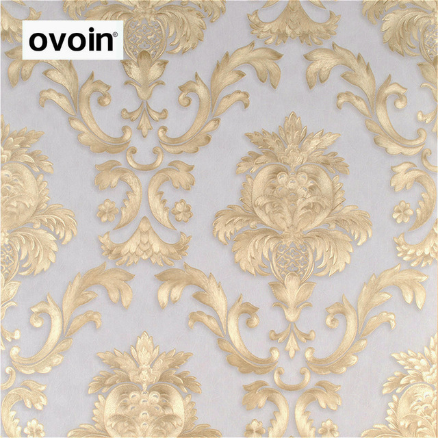 Brown-Gold-Yellow-Textured-Luxury-Damask-Wallpaper-Damask-Striped-Embossed-Vinyl-Wall-Paper-Home-De-PIC-MCH049730 Damask Wallpaper Gold 14+
