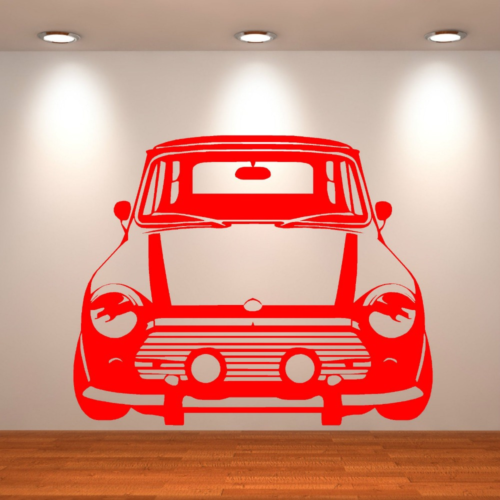 CLASSIC-MINI-COOPER-Vinyl-Wall-Art-car-sticker-Bedroom-Living-Room-Home-decals-Removable-Wallpaper-PIC-MCH053000 Mini Cooper Wallpaper For Bedroom 25+