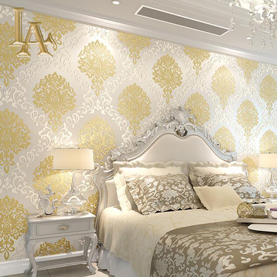 Classic-European-Embossed-Gold-Glitter-Damask-Wallpaper-For-Walls-D-Luxury-Bedroom-Decor-Designs-PIC-MCH052985 Damask Wallpaper Gold 14+