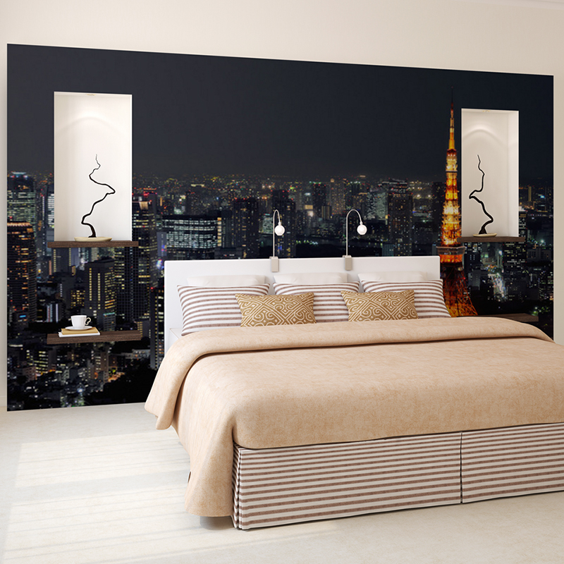 Custom-D-Wall-Mural-Wallpaper-City-Night-View-Modern-Living-Room-Bedroom-Sofa-TV-Backdrop-Wallpape-PIC-MCH055143 Mural Wallpaper Bedroom 16+