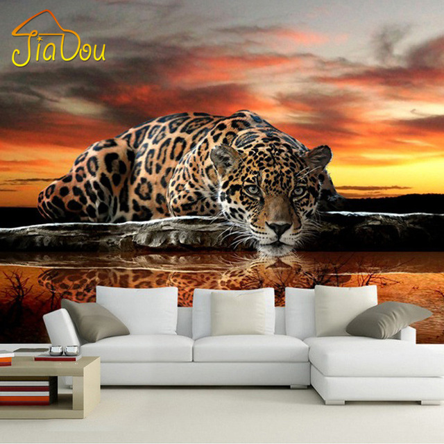 Custom-Photo-Wallpaper-D-Stereoscopic-Animal-Leopard-Mural-Wallpaper-Living-Room-Bedroom-Sofa-Back-PIC-MCH055215 Mural Wallpaper Bedroom 16+