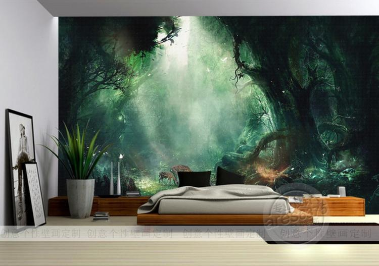 Custom-photo-wallpaper-Custom-large-mural-wallpaper-bedroom-sofa-TV-background-wall-mural-fairy-tal-PIC-MCH055224 Mural Wallpaper Bedroom 16+