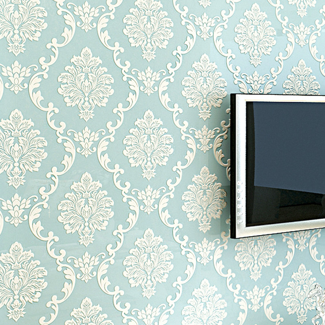 European-Style-D-Embossed-Floral-Luxury-Damask-Wallpaper-For-Living-Room-Bedroom-TV-Background-Des-PIC-MCH062441 Damask Wallpaper Bedroom 28+