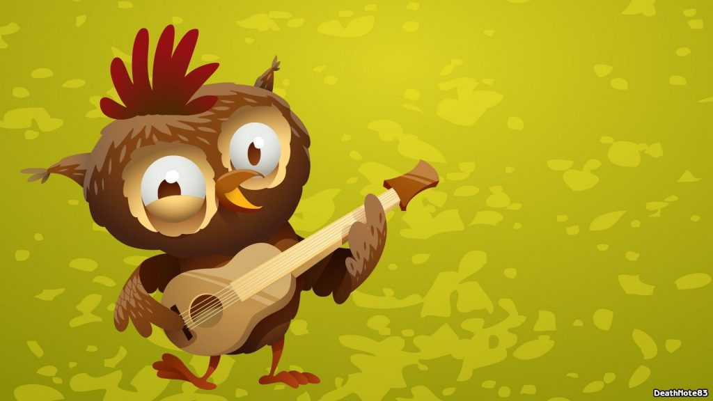 Funny-Owl-Cartoon-Playing-Guitar-Wallpaper-Animated-PIC-MCH066910-1024x576 Hd Cartoon Wallpapers For Android Free 16+