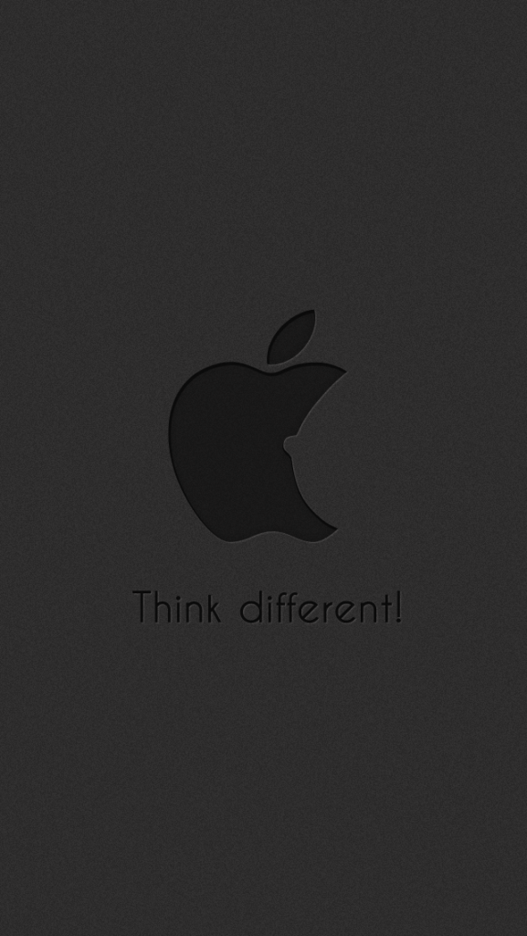 Funny-Subtle-Apple-Think-Different-Logo-Dark-iPhone-Wallpaper-PIC-MCH066964-577x1024 Flat Grey Iphone Wallpaper 22+