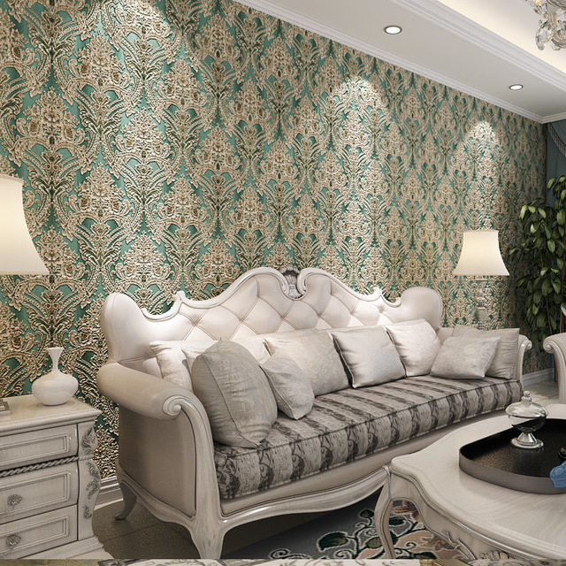 Luxury-Gradient-Color-European-Damask-Wallpaper-Decor-Livingroom-Home-Wallcovering-D-Blue-Gold-Sil-PIC-MCH083870 Damask Wallpaper Silver 9+