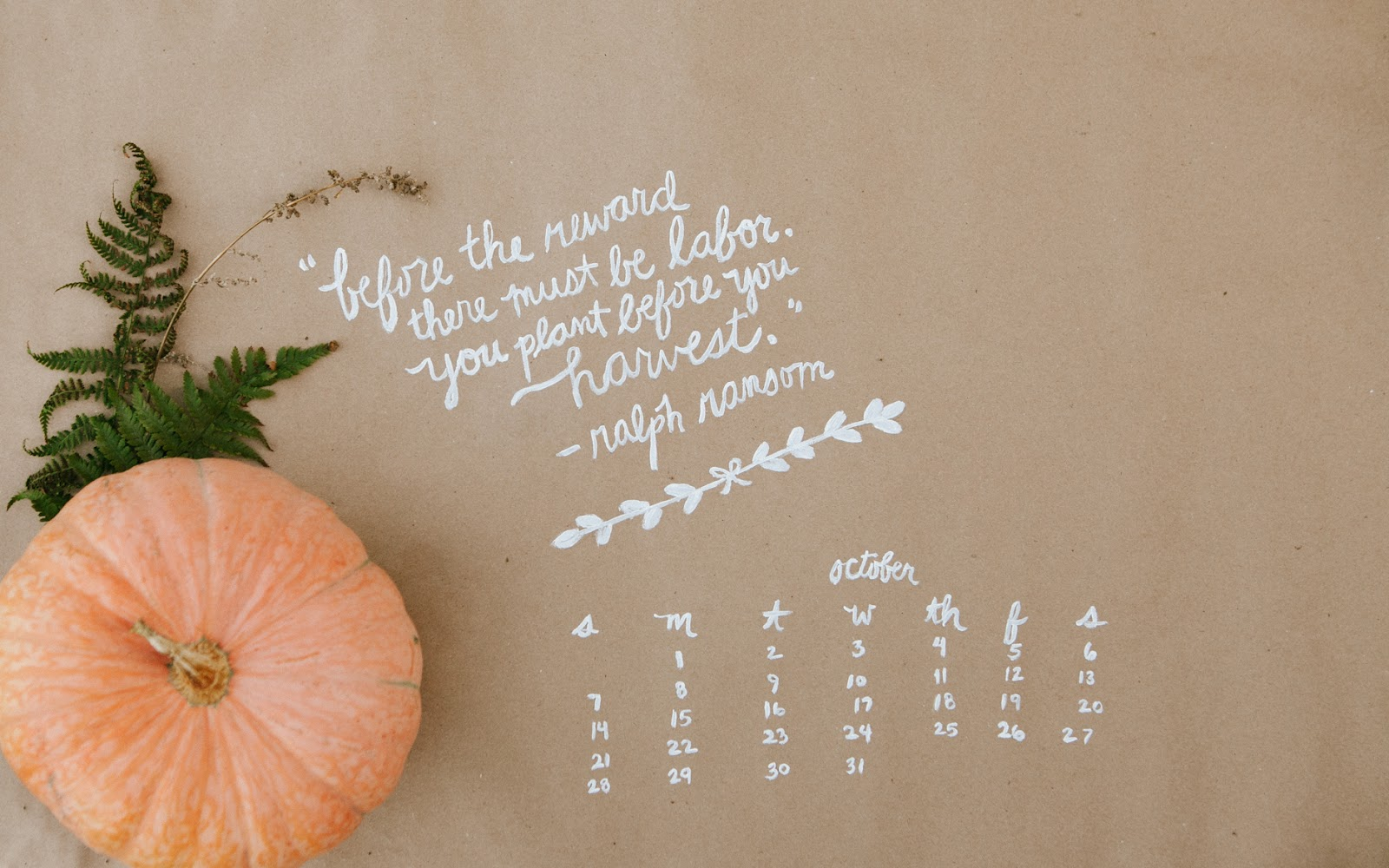 October Quote Wallpaper Widescreen PIC MCH091844