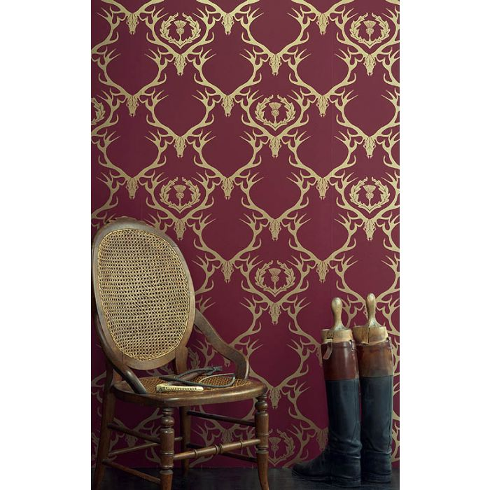 PIC-MCH022912 Damask Wallpaper Red 22+
