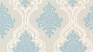 Damask Wallpaper Blue 14+