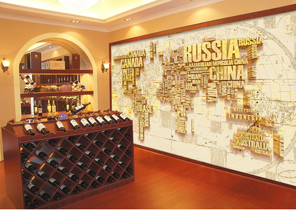 Russia-Canada-World-Map-Custom-DIY-d-Wallpaper-Mural-Rolls-for-Livingroom-Office-Hotel-Restaurant-PIC-MCH099633 Restaurant Wallpaper Ideas 23+