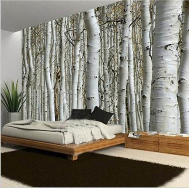 beibehang-Custom-Seamless-Mural-Simple-European-D-White-Birch-Forest-Wallpaper-Bedroom-Living-Room-PIC-MCH045433 Mural Wallpaper Bedroom 16+