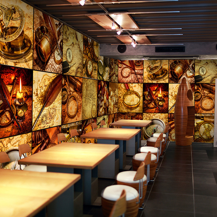 custom-photo-wallpaper-European-retro-puzzle-D-mural-wallpaper-restaurant-cafe-background-wallpape-PIC-MCH055225 Restaurant Wallpaper 3d 45+