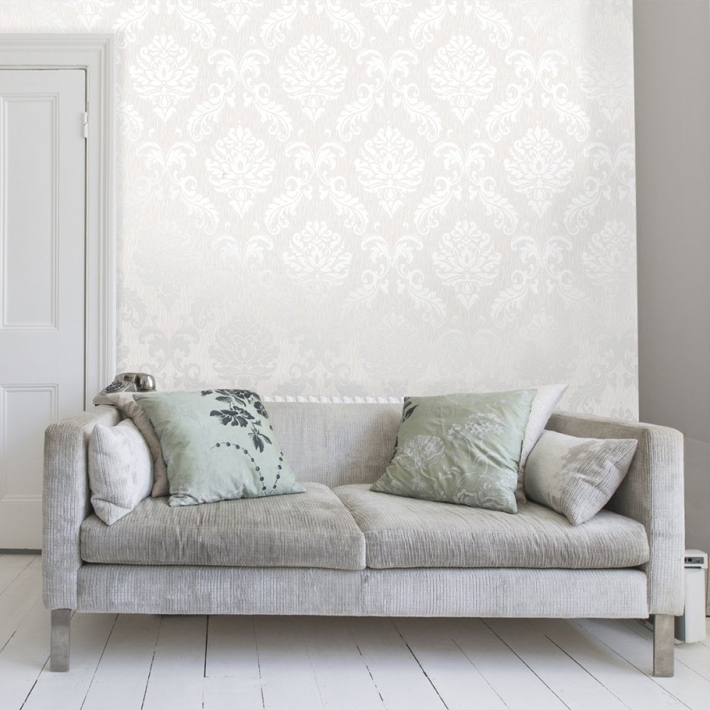 henderson-interiors-chelsea-glitter-damask-wallpaper-white-silver-h-p-image-PIC-MCH072860 Damask Wallpaper Silver 9+