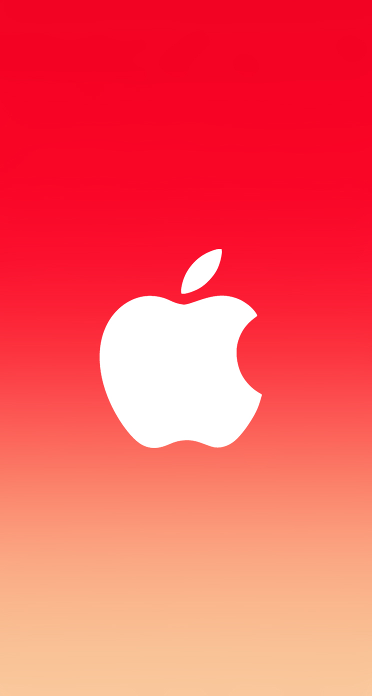 Iphone Wallpapers Hd Ios A Red Beige Apple Pic Mch076855 Dzbc Org