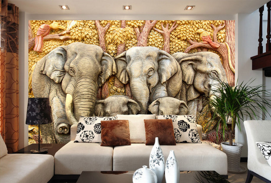 modern-fashion-custom-d-wallpaper-stereoscopic-home-decorating-interior-walls-mural-vintage-animal-PIC-MCH087026 Mural Wallpaper India 32+