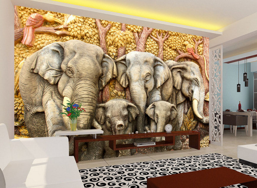 modern-fashion-custom-d-wallpaper-stereoscopic-home-decorating-interior-walls-mural-vintage-animal-PIC-MCH087027 Mural Wallpaper India 32+