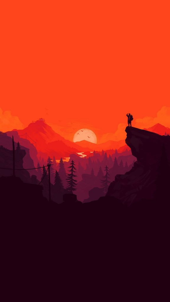 nature-sunset-simple-minimal-illustration-art-red-iphone-plus-wallpaper-ilikewallpaper-com-PIC-MCH089101-576x1024 Simple Wallpaper Iphone 33+