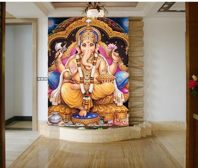 southeast-asia-india-religion-large-mural-style-yoga-studio-entrance-wallpaper-hindu-god-like-god-w-PIC-MCH0103055 Mural Wallpaper India 32+