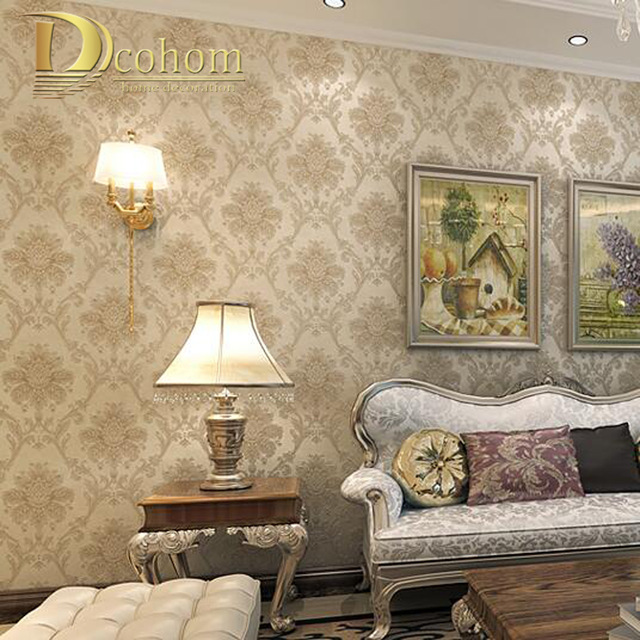 vintage-luxury-european-khaki-brown-beige-damask-wallpaper-for-walls-d-bedroom-living-room-decor.-PIC-MCH0110344 Damask Wallpaper Bedroom 28+