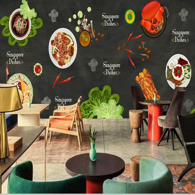 wallpaper-d-Custom-Restaurant-wallpaper-hand-painted-Chinese-food-wallpaper-high-quality-mural-kit-PIC-MCH0111389 Restaurant Wallpaper 3d 45+