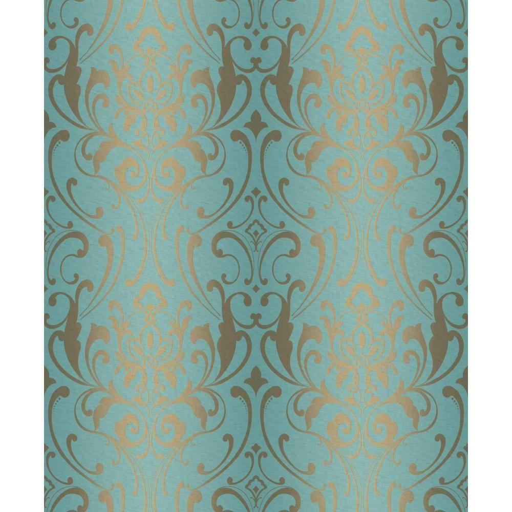 york-wallcoverings-wallpaper-y-PIC-MCH0120842 Damask Wallpaper Gold 14+