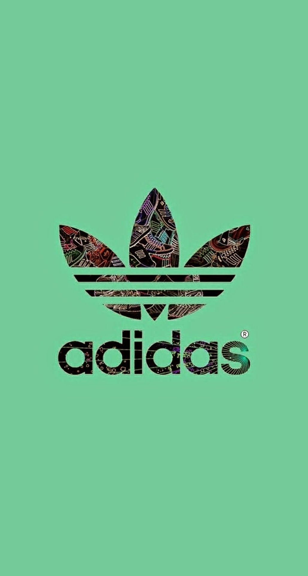 Adidas Logo Green Background IPhone Plus HD Wallpaper PIC MCH039006