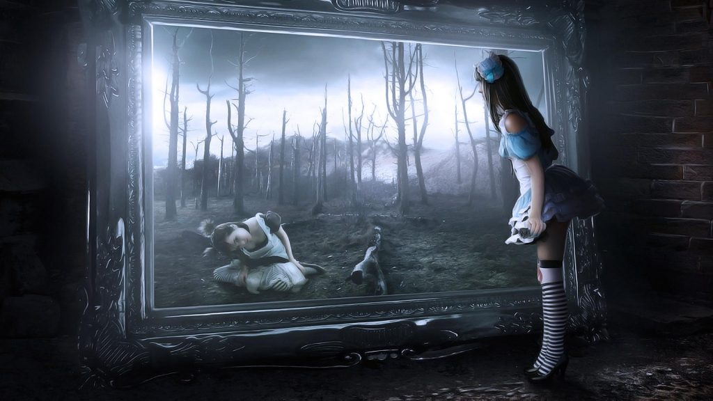 Alice-Mirror-Wonderland-Digital-Art-zx-wallpaper-wp-PIC-MCH039400-1024x576 Mirror Wallpaper Hd 35+