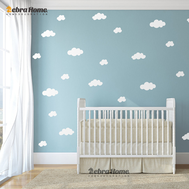 DIY-White-Cloud-Wall-Stickers-Baby-Nursery-Bedrooms-Home-Decor-Art-Removable-Vinyl-Murals-Wallpaper-PIC-MCH059208 Wallpaper Baby Room 33+