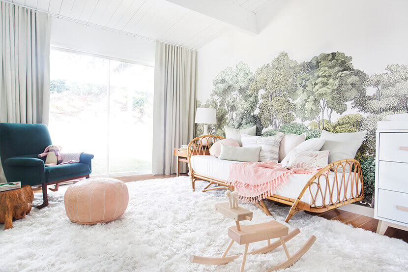 Forest-Trees-Wallpaper-Nursery-PIC-MCH064755 Wallpaper Baby Room 33+
