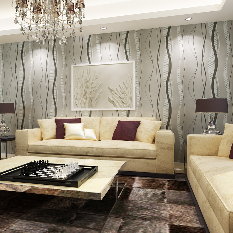 HANMERO-Silver-White-Striped-Wallpaper-ktv-clothing-store-background-wall-decoration-living-room-be-PIC-MCH070799 Silver And White Wallpaper For Walls 17+