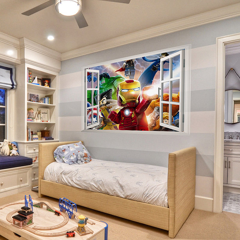 Lego-movies-wall-stickers-deals-art-mural-home-deor-kids-chlidrens-room-decoration-PIC-MCH081943 Lego Wallpaper Mural 17+