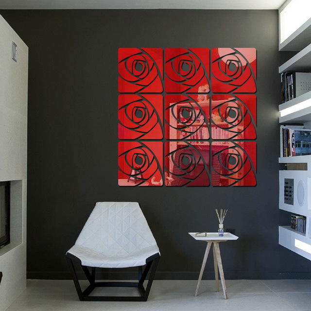 Reflective-Acrylic-Rose-Mirror-Sticker-Wall-Decals-Home-Room-Decoration-Art-Wall-Murals-Window-Mirr-PIC-MCH098568 Mirror Wallpaper Home 31+
