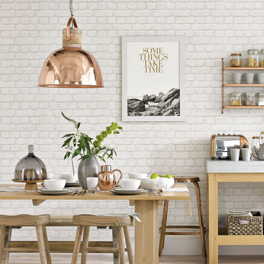 White-country-dining-room-with-copper-pendant-lamp-David-Brittain-x-PIC-MCH0116279 Country Wallpapers For Walls 31+