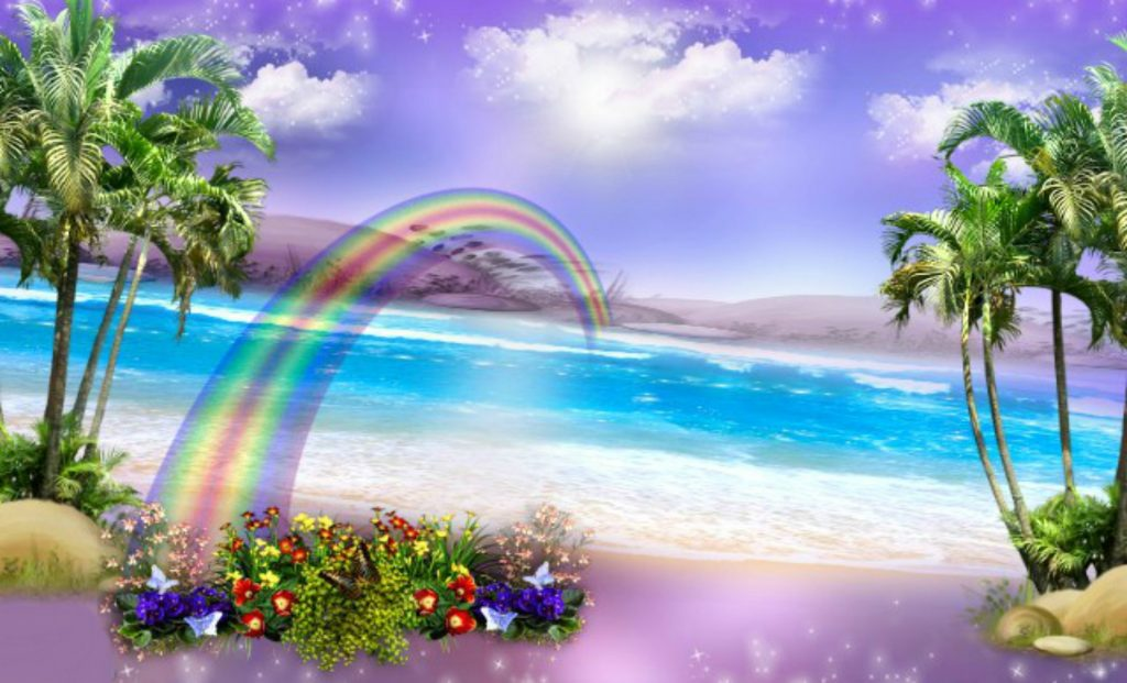 beach-magic-flowers-summer-beautiful-rainbow-purple-clouds-paradise-pretty-background-pictures-wall-PIC-MCH044459-1024x621 Paradise Wallpapers For Iphone 6 34+