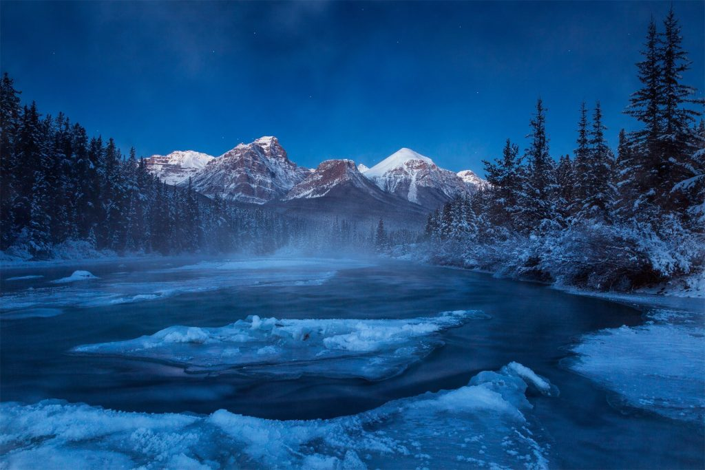 canada-albert-mountain-forest-river-winter-snow-night-PIC-MCH051009-1024x683 Wallpaper Snow Night 41+