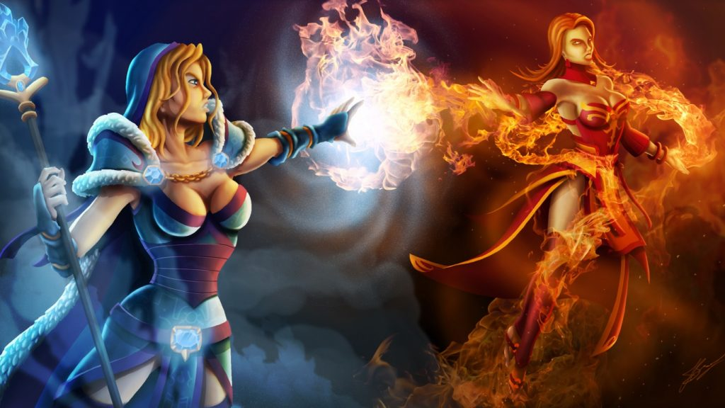 dota-crystal-maiden-vs-lina-artwork-x-PIC-MCH059651-1024x576 Dota Wallpaper For Laptop 33+