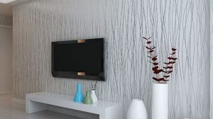 Silver And White Wallpaper For Living Room 23+