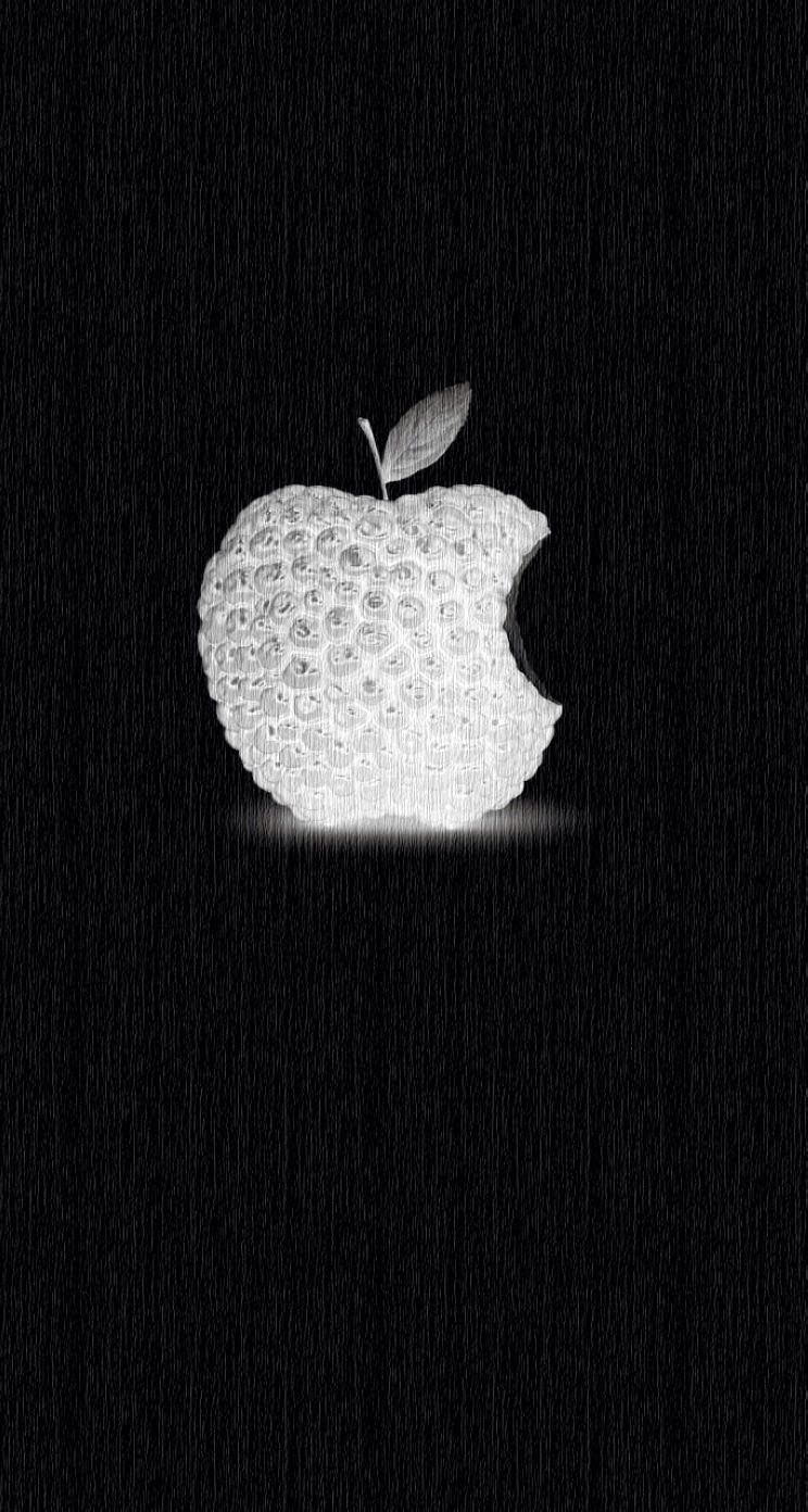 IPhone Wallpaper Hd Apple Logo Parallax Black Berry PIC MCH01376