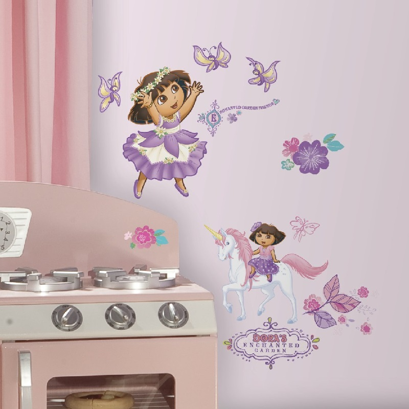 roommates-dora-the-explorer-enchanted-forest-wall-decals-PIC-MCH099329 Dora Wallpaper Bedroom 22+