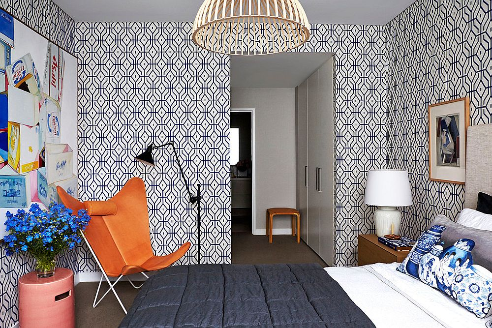 rosey-posey-trellis-wallpaper-for-the-stylish-contemporary-bedroom-PIC-MCH099425 Is Wallpaper Out Of Style 36+