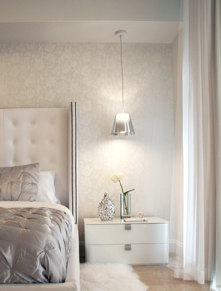 silver-gray-bedroom-with-off-switch-bedroom-contemporary-and-wallpaper-PIC-MCH0101649 Silver And White Wallpaper For Walls 17+