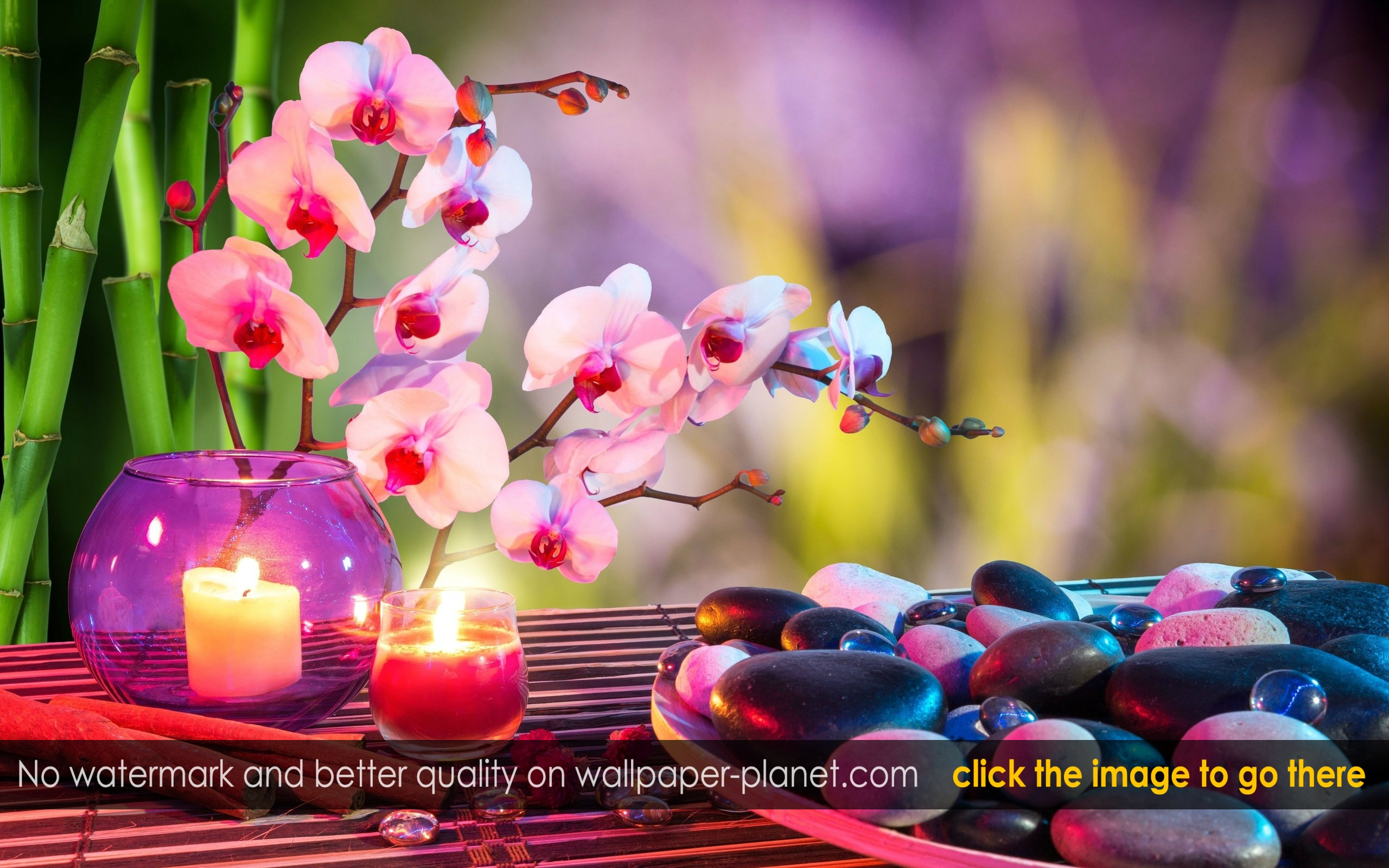 spa stones candles and flowers pic mch0103102